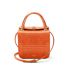 Gigi Bag in Deep Shine Marmalade Small Croc