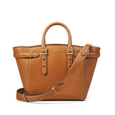Midi Marylebone Tote in Smooth Tan