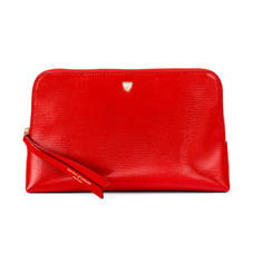 Large Essential Cosmetic Case in Scarlet Silk Lizard