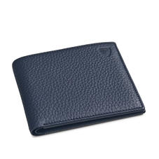 8 Card Billfold Wallet in Navy Pebble