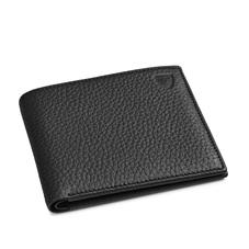 8 Card Billfold Wallet in Black Pebble