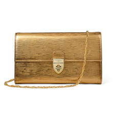 Mayfair Clutch in Zoloto Metallic