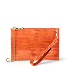 Soho Bag in Deep Shine Marmalade Small Croc