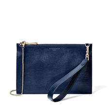 Soho Bag in Midnight Blue Silk Lizard