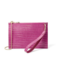 Soho Bag in Deep Shine Hibiscus Small Croc