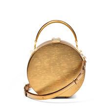Hat Box in Zoloto Metallic
