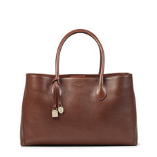 London Tote in Chestnut Pebble