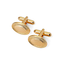 Engraved Edge Oval Cufflinks