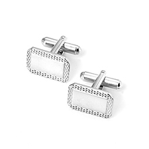 Engraved Edge Rectangular Cufflinks