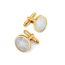 Engraved Centre Round Cufflinks