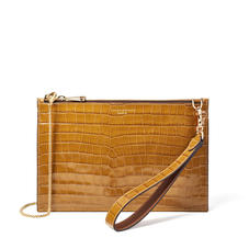Soho Bag in Deep Shine Vintage Tan Small Croc