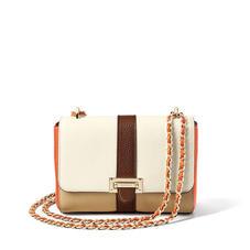 Lottie Bag in Chestnut, Sand, Ivory & Marmalade Pebble