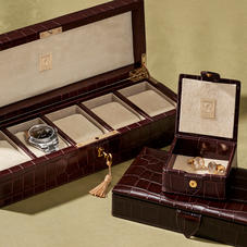 Leather Cufflink Boxes & Watch Boxes