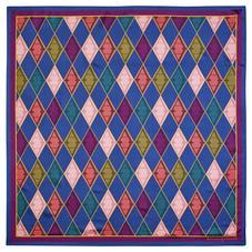 Aspinal Harlequin Silk Scarf in Multi-coloured Pure Silk Twill