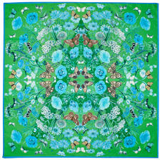 Botanical 'A' Silk Scarf in Chalkhill Blue Pure Silk