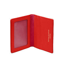 ID & Travel Card Holder in Scarlet Saffiano