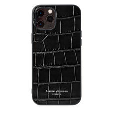 iPhone 12 Pro Max Case in Black Croc