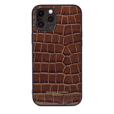 iPhone 12 Pro Max Case in Deep Shine Chestnut Small Croc