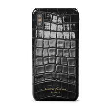 iPhone Xs Max Case in Black Patent Croc