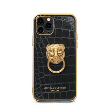 Lion iPhone 11 Pro Case in Black Patent Croc