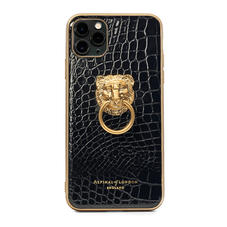 Lion iPhone 11 Pro Max Case in Black Patent Croc