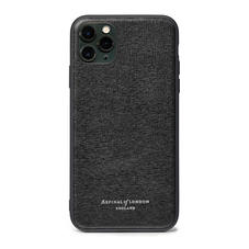 iPhone 11 Pro Max Case with Black Edge in Black Saffiano