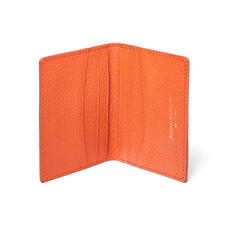 Double Fold Credit Card Holder in Marmalade Pebble