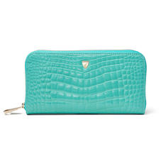 Continental Purse in Chalkhill Blue Patent Croc