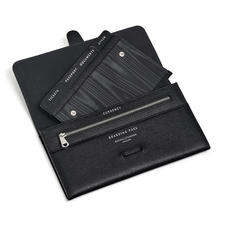 Travel Wallet with Removable Inserts in Black Saffiano