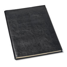 Rustic A4 Refillable Leather Journal in Smooth Black