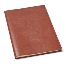 Rustic A4 Refillable Leather Journal in Smooth Antique Brown