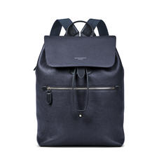 Reporter Backpack in Navy Pebble