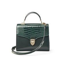Mayfair Bag in Evergreen Patent Croc & Smooth Evergreen