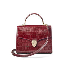 Mayfair Bag in Deep Shine Bordeaux Croc