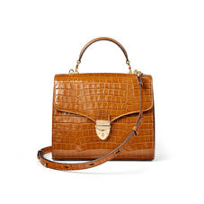 Mayfair Bag in Deep Shine Vintage Tan Small Croc