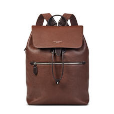 Reporter Backpack in Tobacco Pebble