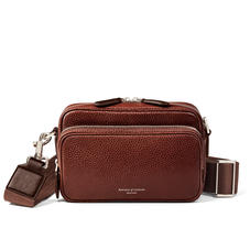 Reporter East West Messenger Bag in Tobacco Pebble