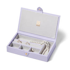 Paris Jewellery Box in Deep Shine English Lavender Small Croc