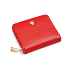 Slim Mini Continental Purse in Scarlet Saffiano
