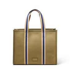 Henley Tote in Khaki Canvas
