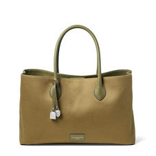 London Tote in Khaki Canvas