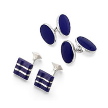 Lapis Sterling Silver Cufflinks