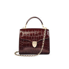 Midi Mayfair Bag in Deep Shine Amazon Brown Croc