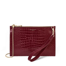 Soho Bag in Bordeaux Patent Croc