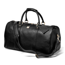 Boston Bag in Black Pebble with Silver Hardware