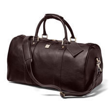 Boston Bag in Dark Brown Pebble Calf