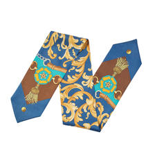 Aspinal Signature Shield Neck Bow in Teal