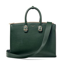 Madison Tote in Evergreen Pebble