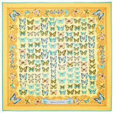 Butterfly Silk Scarf in Meadow Pure Silk Twill