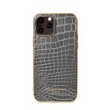 iPhone 12 / 12 Pro Case in Storm Patent Croc